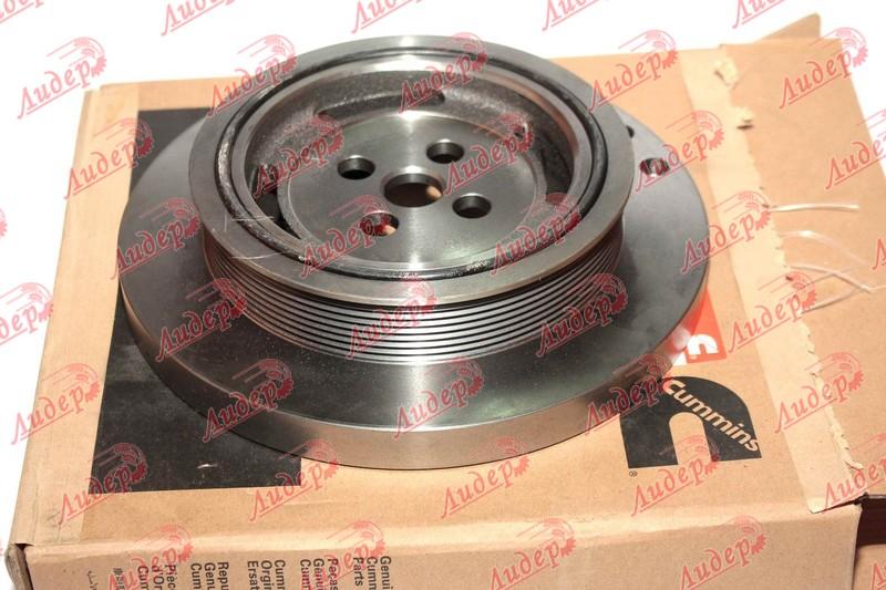 Демпфер двигуна передній старої версії 3925568 (D=240.5 mm, d по ремню =180 mm)    Serial Range: -JJC0290799